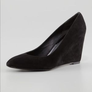 Brian Atwood Bejo Point-Toe Suede Wedge 8 A7